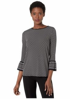 MICHAEL Michael Kors Diagonal Chain Sleeve Top