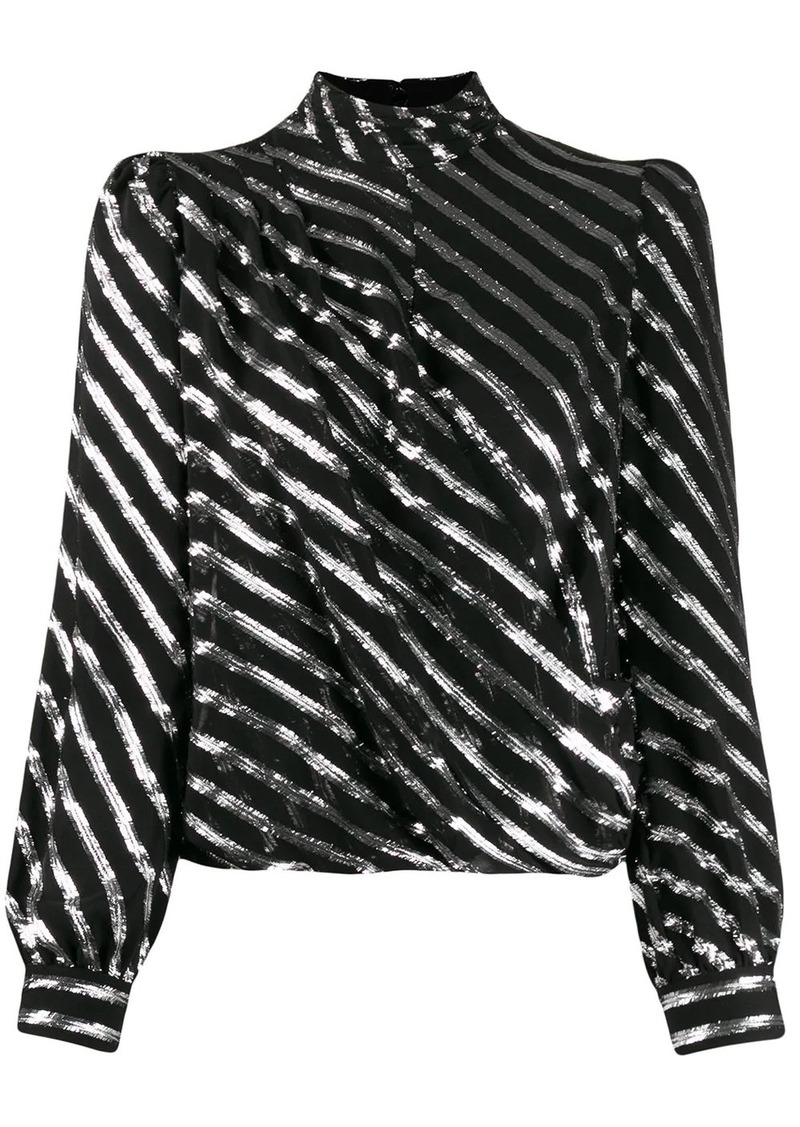 MICHAEL Michael Kors diagonal striped blouse