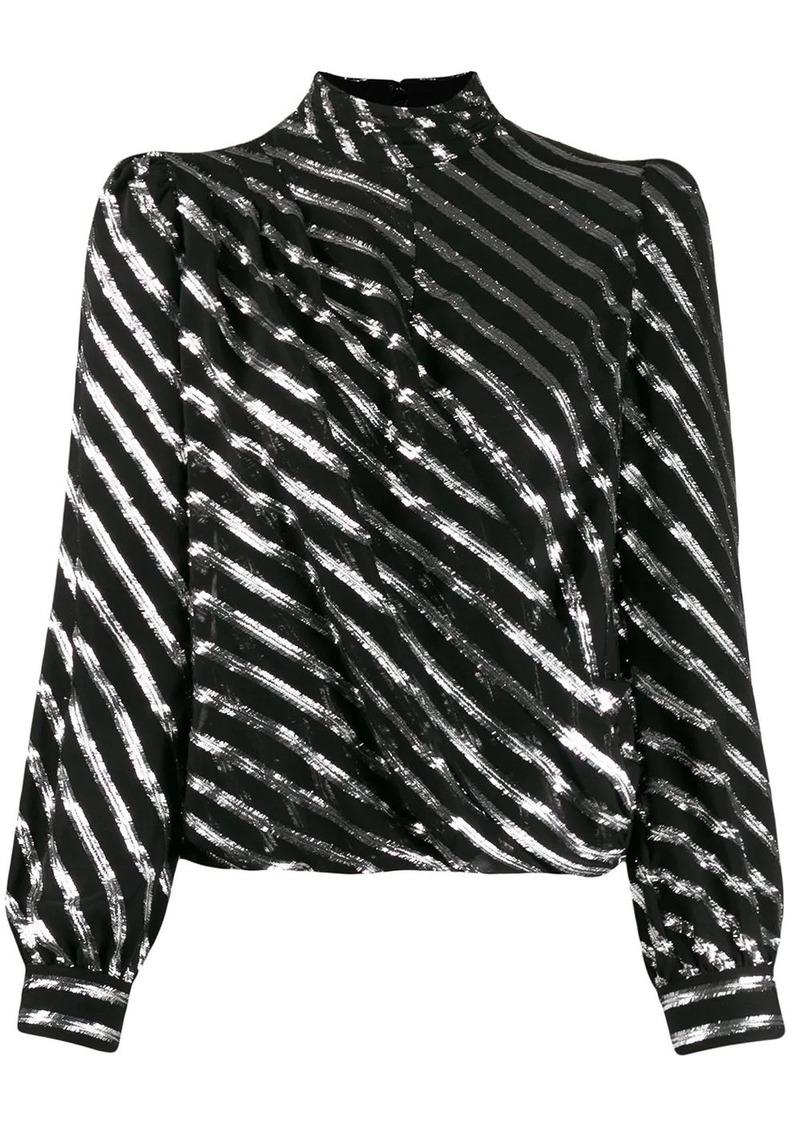 MICHAEL Michael Kors diagonal striped blouse