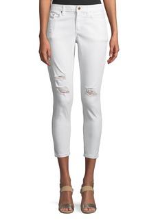 MICHAEL Michael Kors Distressed Crop Skinny Jeans