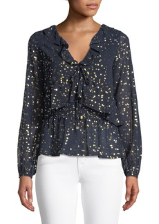 MICHAEL Michael Kors Ditsy Blossom Foil-Pattern Top
