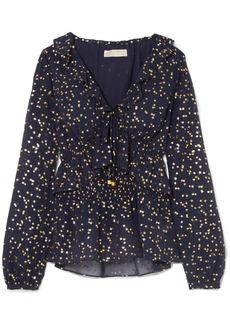 MICHAEL Michael Kors Ditsy ruffled printed georgette blouse