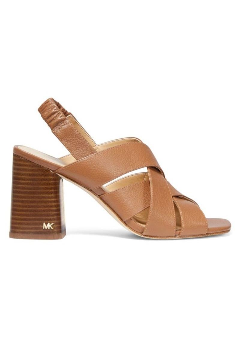 MICHAEL Michael Kors Dixon Leather Slingback Sandals