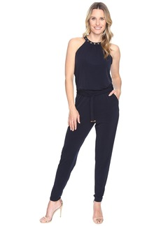 MICHAEL Michael Kors Dome Stud Neck Jumpsuit