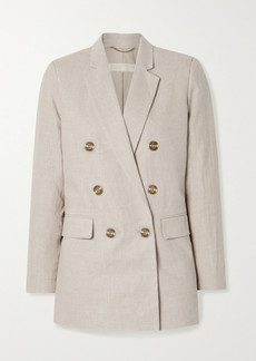 MICHAEL Michael Kors Double-breasted Linen Blazer