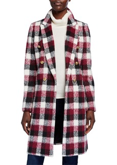 MICHAEL Michael Kors Double Breasted Plaid Coat