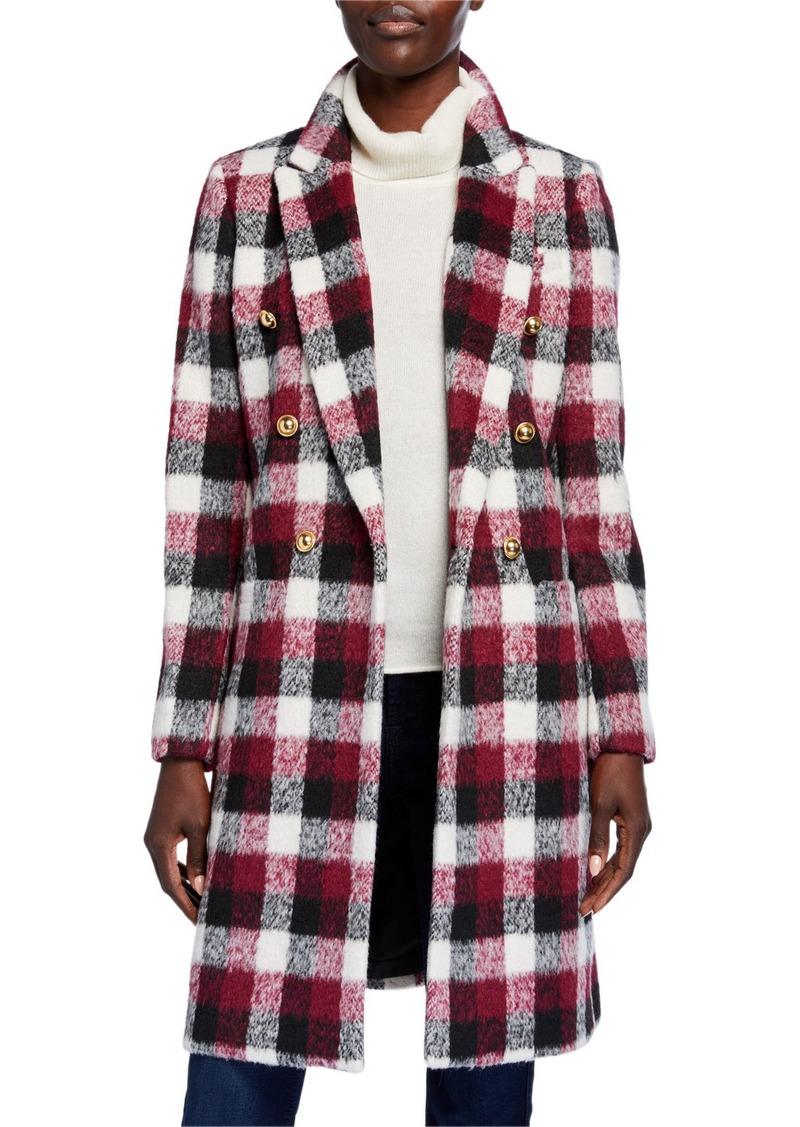 MICHAEL Michael Kors Double Breasted Plaid Coat
