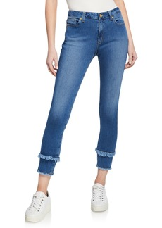MICHAEL Michael Kors Double Frayed Skinny Jeans