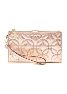MICHAEL Michael Kors Double Zip Quilted Leather Wristlet