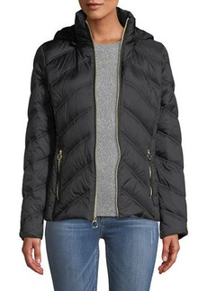 MICHAEL Michael Kors Down Fill Zip-Up Hooded Puffer Jacket