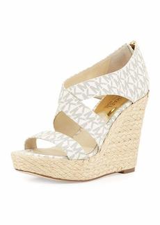 MICHAEL Michael Kors Elena MK Signature Wedge Sandals