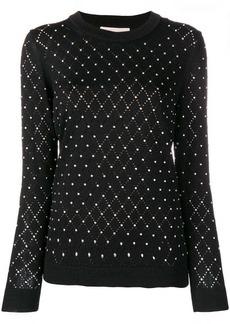 MICHAEL Michael Kors embellished diamond knit sweater