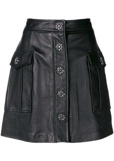 MICHAEL Michael Kors embellished lamb skin skirt