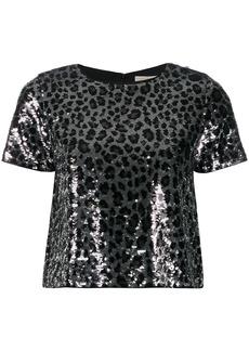 MICHAEL Michael Kors leopard print sequinned T-shirt