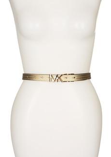 MICHAEL Michael Kors Embossed Chain Reversible Belt
