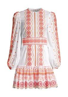 MICHAEL Michael Kors Embroidered Eyelet Mini Dress