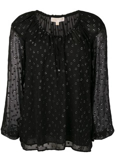 MICHAEL Michael Kors embroidered flared blouse