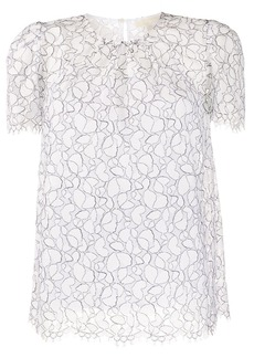 MICHAEL Michael Kors embroidered shift blouse