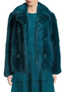 MICHAEL Michael Kors Faux-Fur Pea Coat