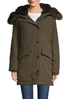 MICHAEL Michael Kors Faux Fur-Trimmed Hooded Jacket