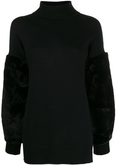 MICHAEL Michael Kors faux fur trimmed jumper