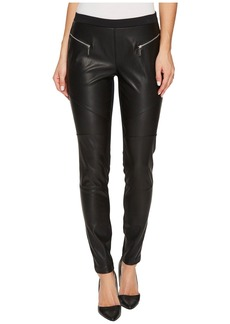 MICHAEL Michael Kors Faux Leather Front Moto Leggings