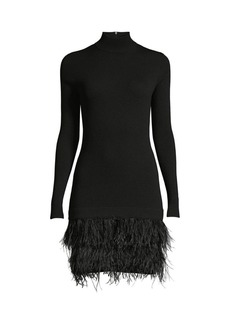 MICHAEL Michael Kors Feather-Skirt Rib-Knit Sweater Dress
