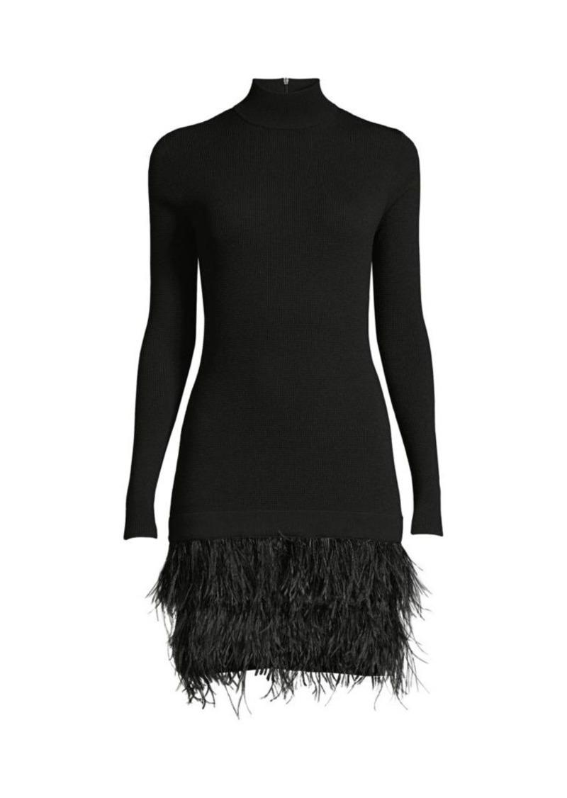 MICHAEL Michael Kors Feather-Skirt Rib-Knit Sweater Dress