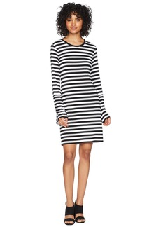MICHAEL Michael Kors Flare Sleeve Striped Dress