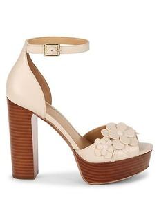 MICHAEL Michael Kors Flora Ankle-Strap Leather Sandals
