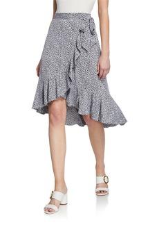 MICHAEL Michael Kors Floral Faux-Wrap Ruffle Skirt