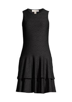 MICHAEL Michael Kors Floral Jacquard Tiered Dress