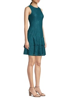 MICHAEL Michael Kors Floral Lace Double Flounce Sheath Dress