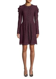 MICHAEL Michael Kors Floral Lace Long-Sleeve Dress
