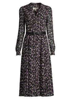 MICHAEL Michael Kors Floral Midi Shirtdress