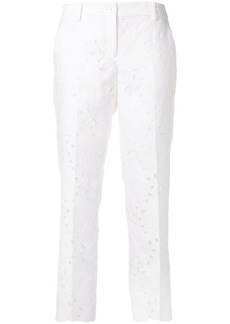 MICHAEL Michael Kors floral-pattern cropped trousers