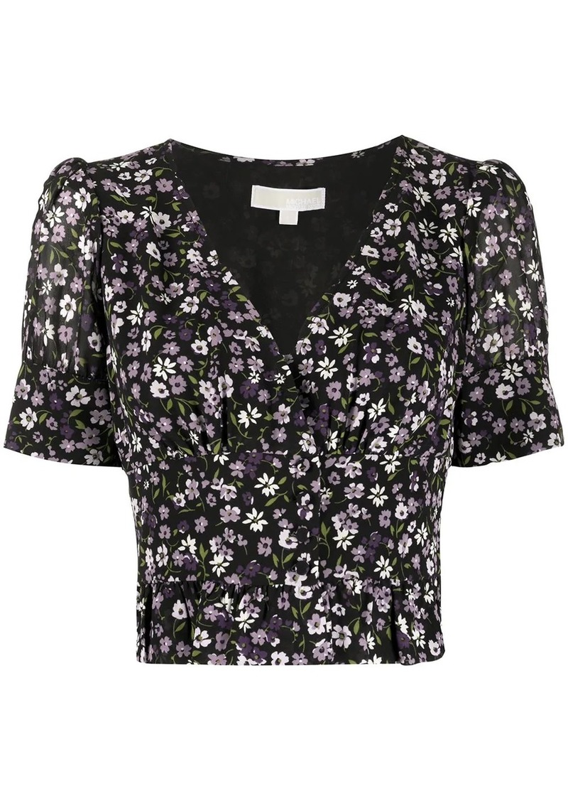 MICHAEL Michael Kors floral-print cropped blouse