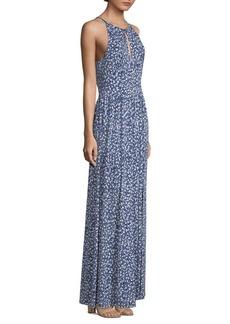 MICHAEL Michael Kors Floral-Print Halter Maxi Dress