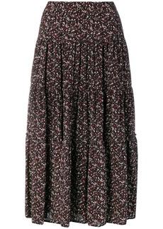 MICHAEL Michael Kors floral print midi skirt