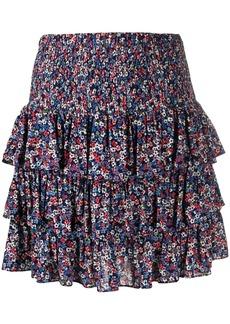 MICHAEL Michael Kors floral-print ruffled skirt