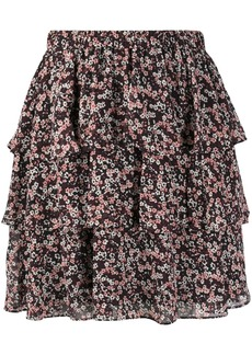 MICHAEL Michael Kors floral-print tiered skirt