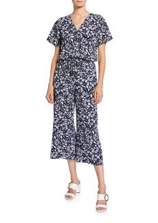 MICHAEL Michael Kors Floral V-Neck Culotte Jumpsuit