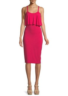 MICHAEL Michael Kors Flounce-Popover Knit Tank Dress
