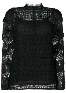 MICHAEL Michael Kors flower appliqué lace blouse