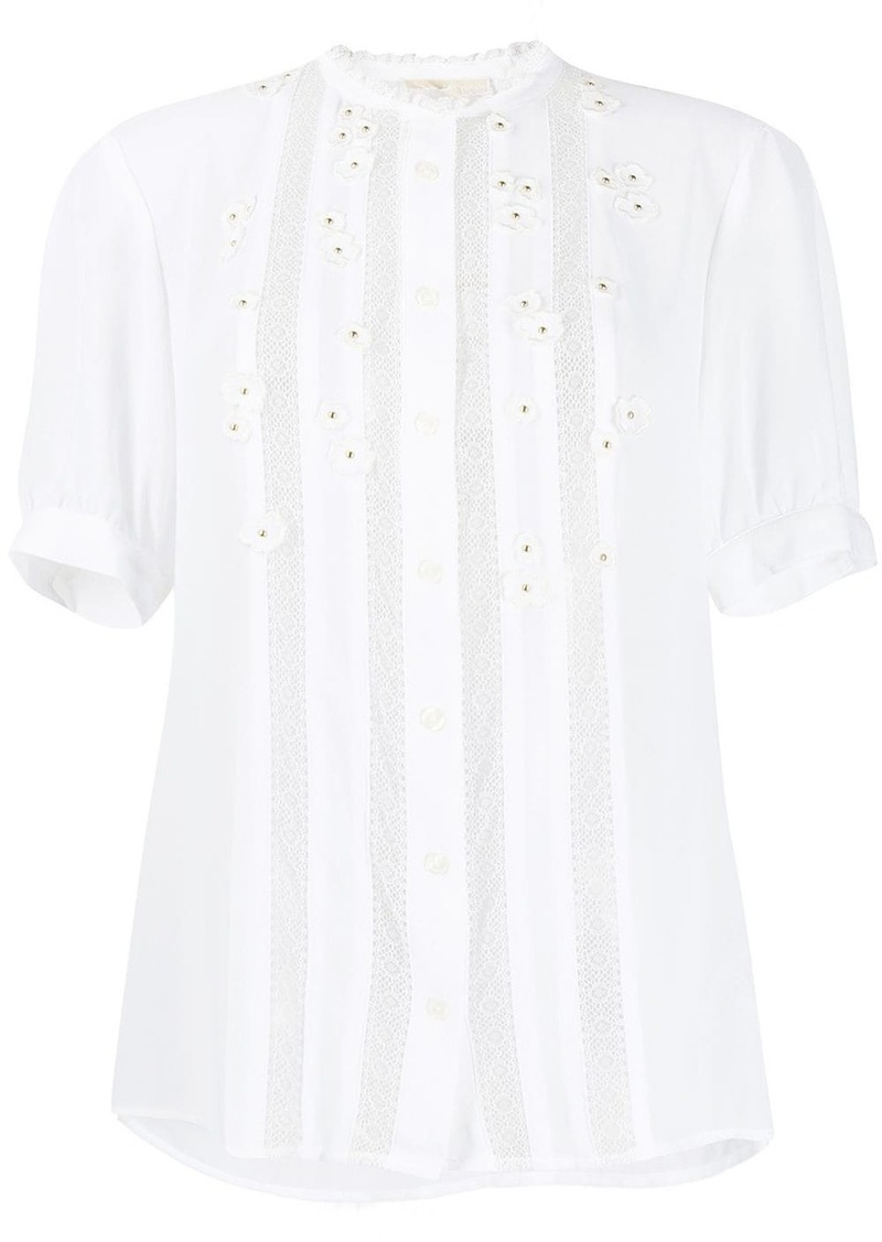 MICHAEL Michael Kors flower embroidered top