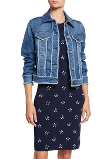 MICHAEL Michael Kors Frayed Denim Jacket