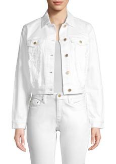 MICHAEL Michael Kors Frayed Denim Jacket