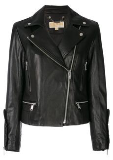 MICHAEL Michael Kors frill-trimmed biker jacket