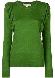 MICHAEL Michael Kors frilled fitted sweater