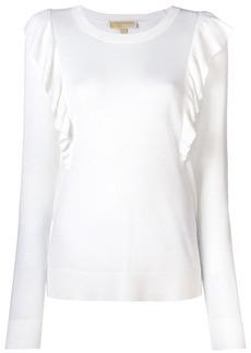 MICHAEL Michael Kors frilled longsleeved sweater